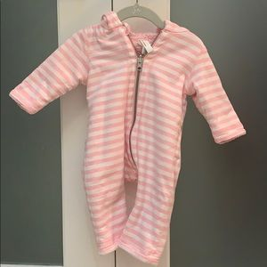 Hanna Andersson cold weather onesie- size 3-6 mo